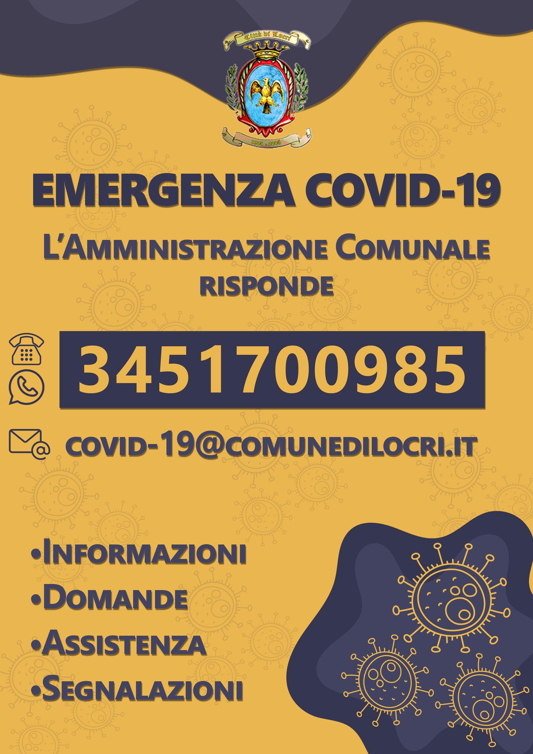 locri  rc   attivato numero telefonico per emergenza